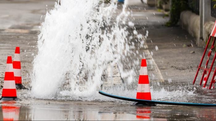 Vattenläckan på Tegelhagsområdet i Valdemarsvik är nu lagad