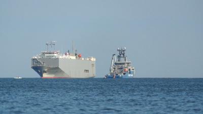 Fartyget Makassar Highway på grund