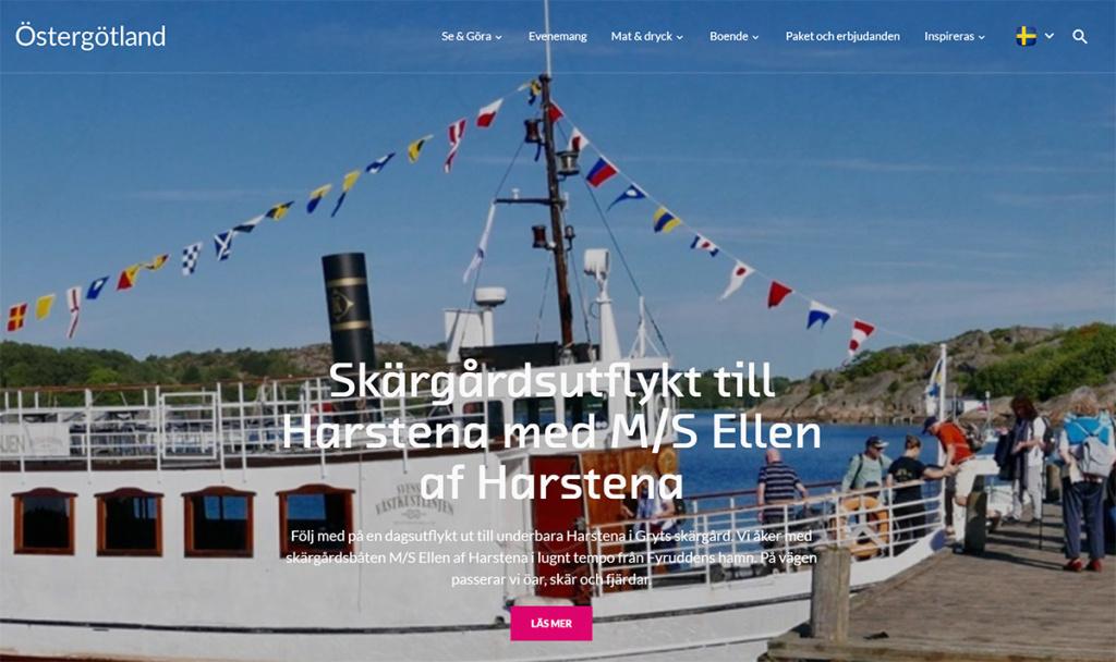 Visit Östergötlands hemsida