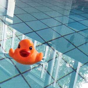Badanka i simbassäng i Gusums simhall