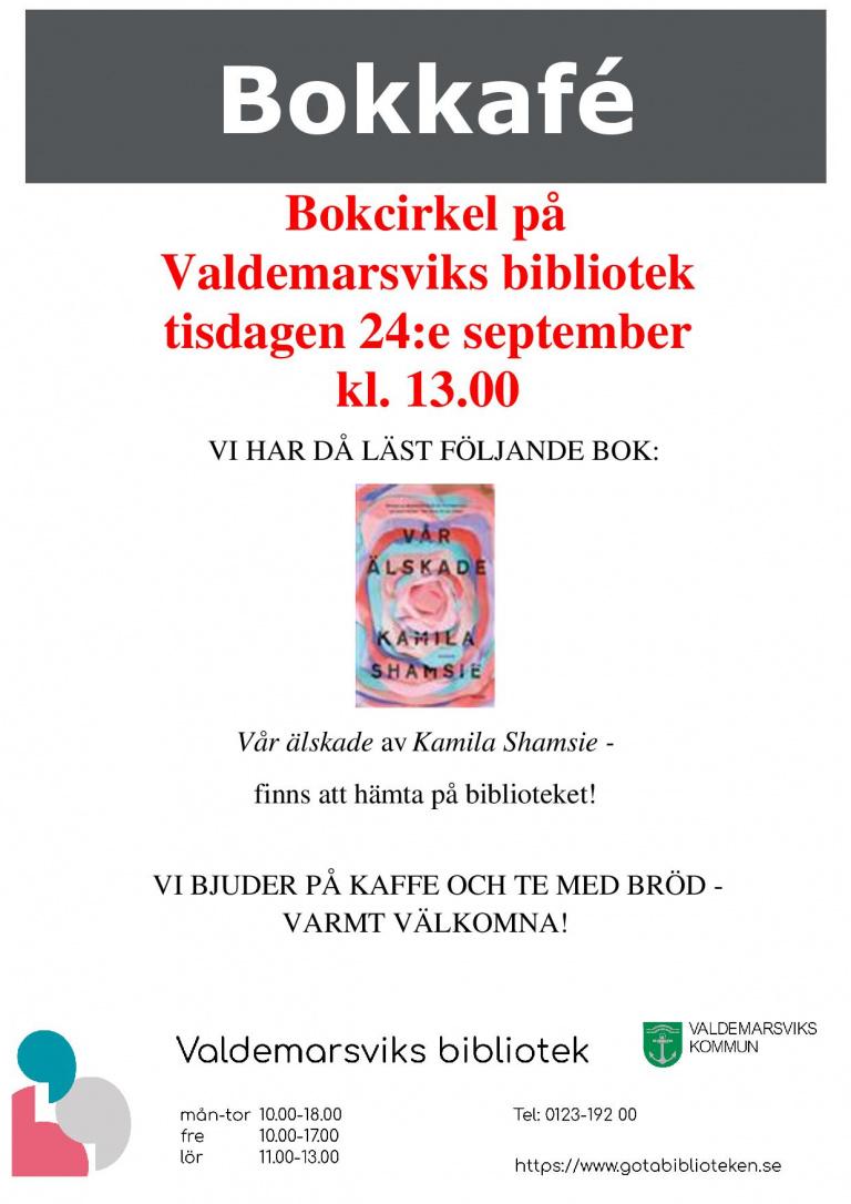 Bokcirkel på Valdemarsviks bibliotek