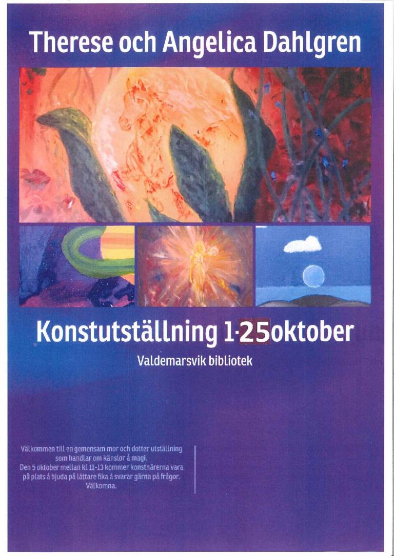 Konstutställning i Spektrummet Valdemarsviks bibliotek