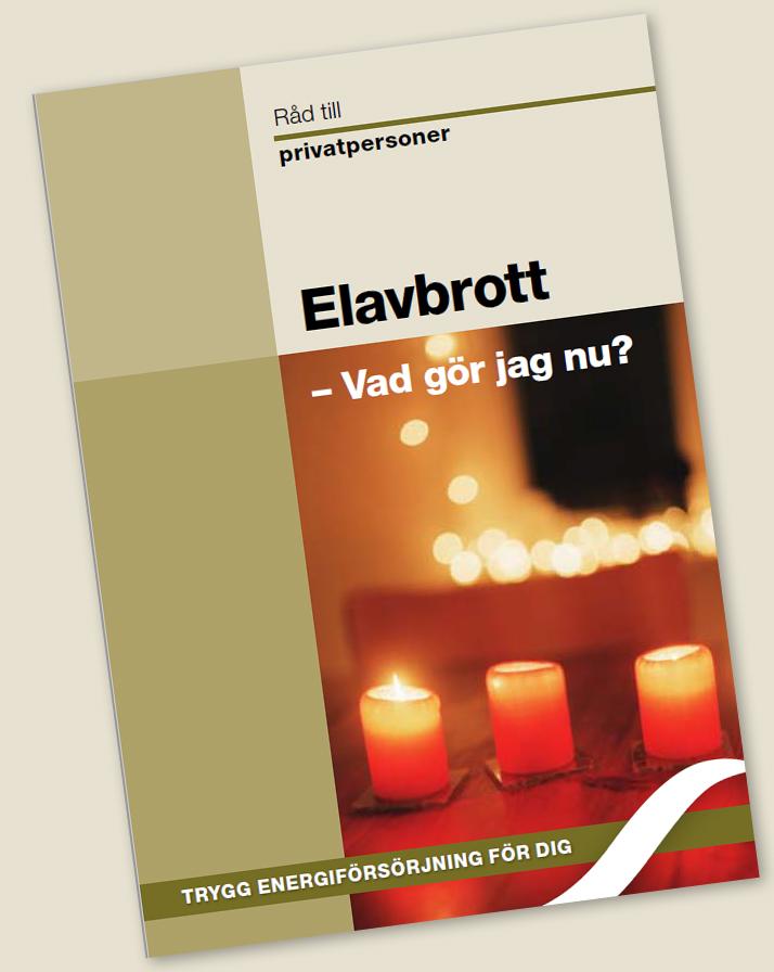 Bild på broschyr om strömavbrott