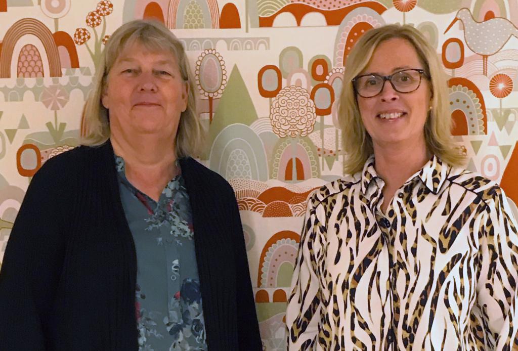 Marie Schmid och Lotta Kettle samverkar kring vård i Valdemarsviks kommun