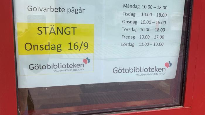 Huvudbiblioteket stängt onsdag 16 september
