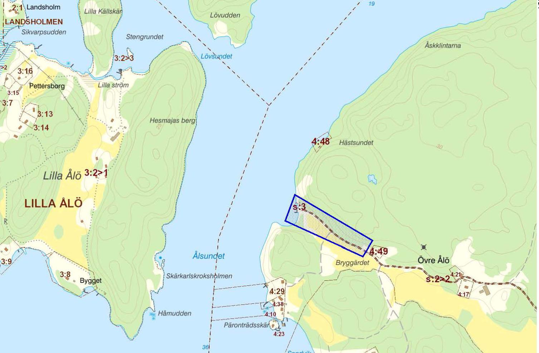 Situationsplan Stora Ålö 4.47