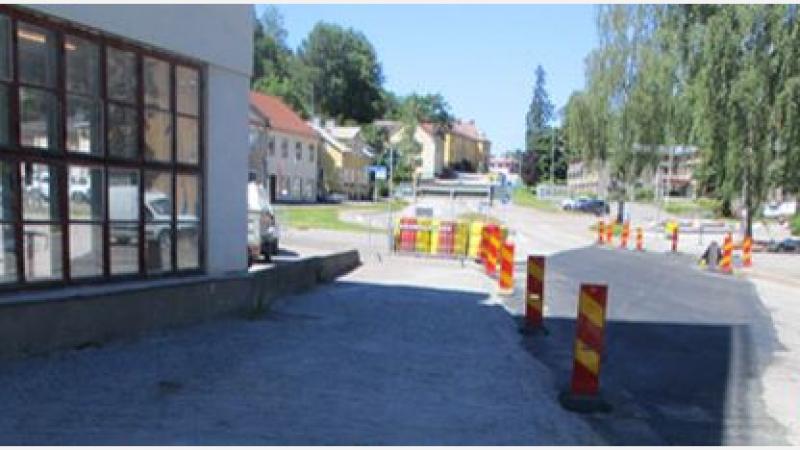 Kulverten under Storgatan är nu utbytt
